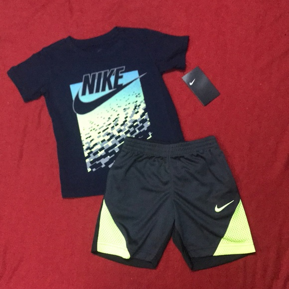 1b9bf92d9 Nike Other | Toddler Boys Two Pieces Ss Tee And Shorts | Poshmark